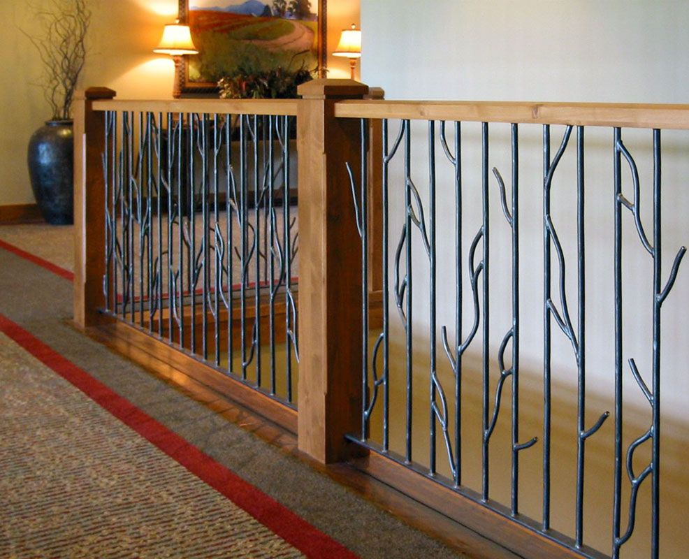In Door Railing Interior Railing Designs Iron