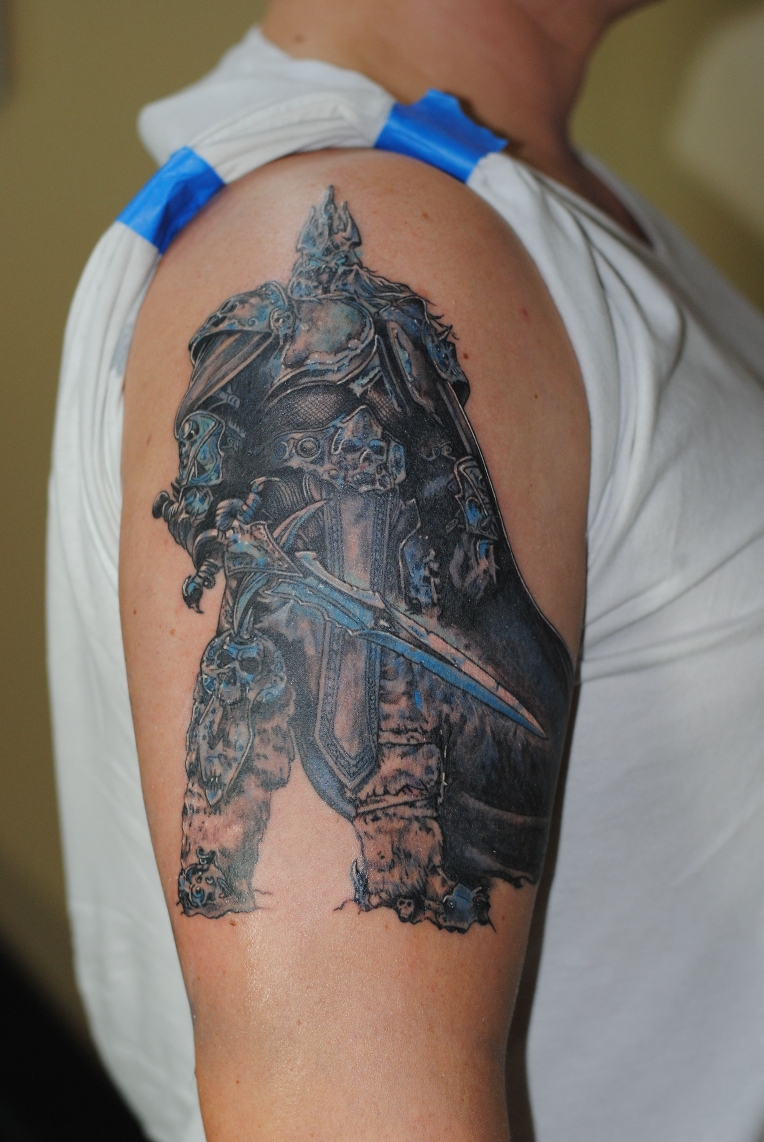 world of warcraft lich king tattoo tattoos pinterest