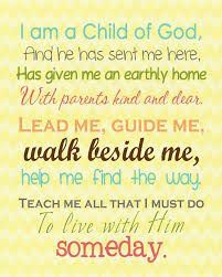 Image result for i am a child of god poem   Kindergarten