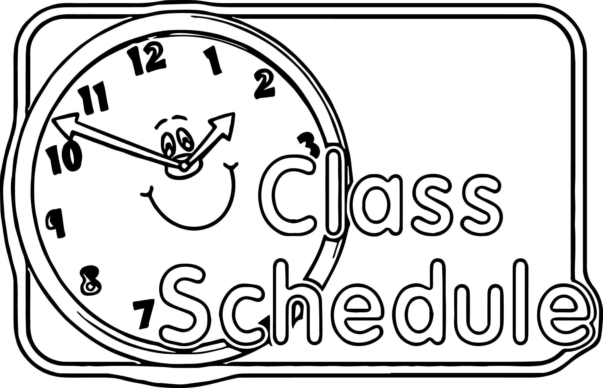 Awesome Content Center Sign Schedule 3rd Grade Coloring Page