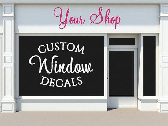 Use vinyl decals on your storefront or business windows for advertising and decorating to attract more