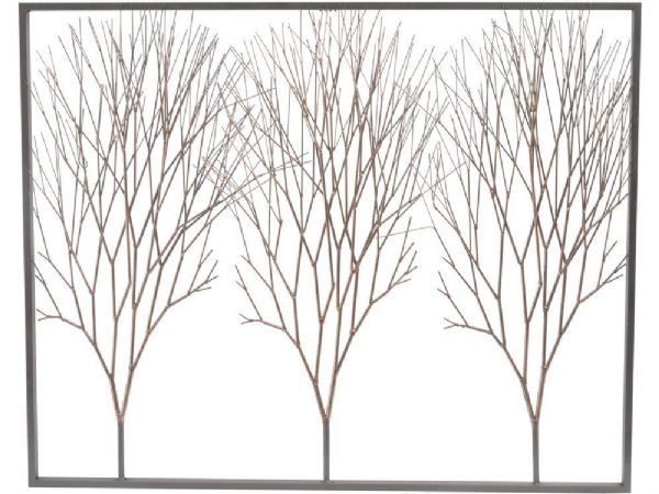 Copper Trees Wall Art Bare Metal