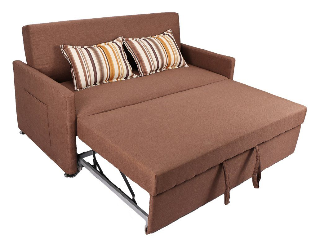 Corvallis 65 Square Arm Sofa Bed In 2020 Pull Out Sleeper Sofa