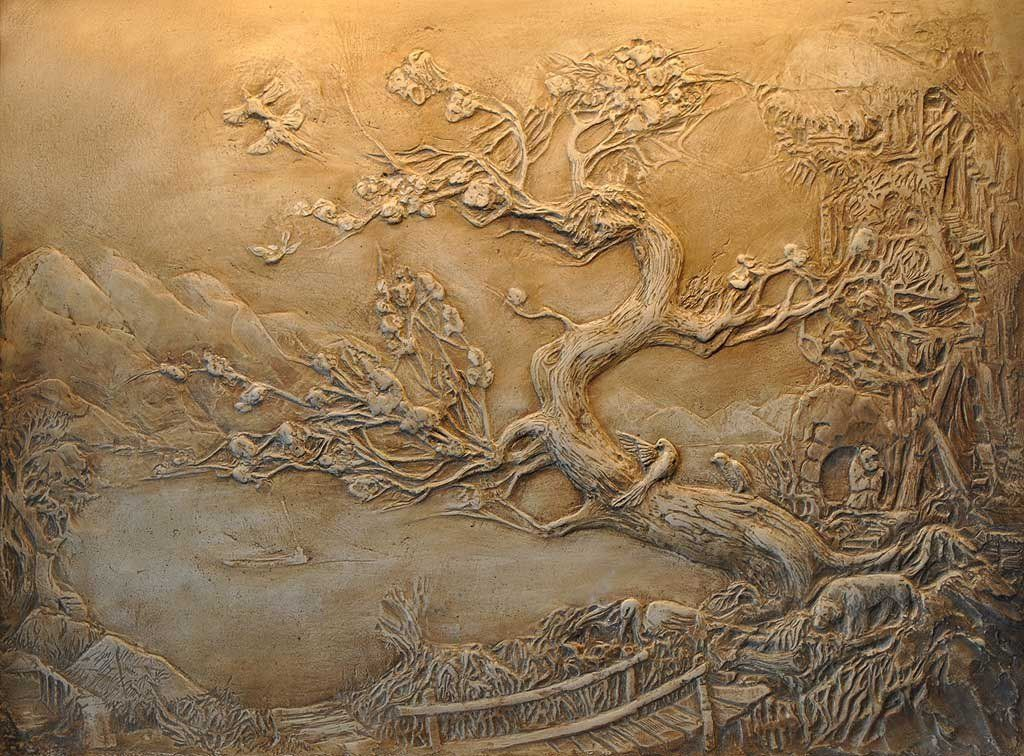 Декоративные стены из шпаклевки картинки
