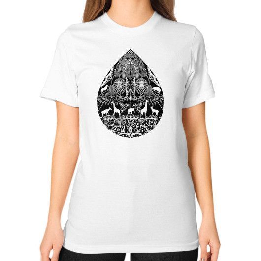 Rain in Sahara Unisex T-Shirt (on woman)