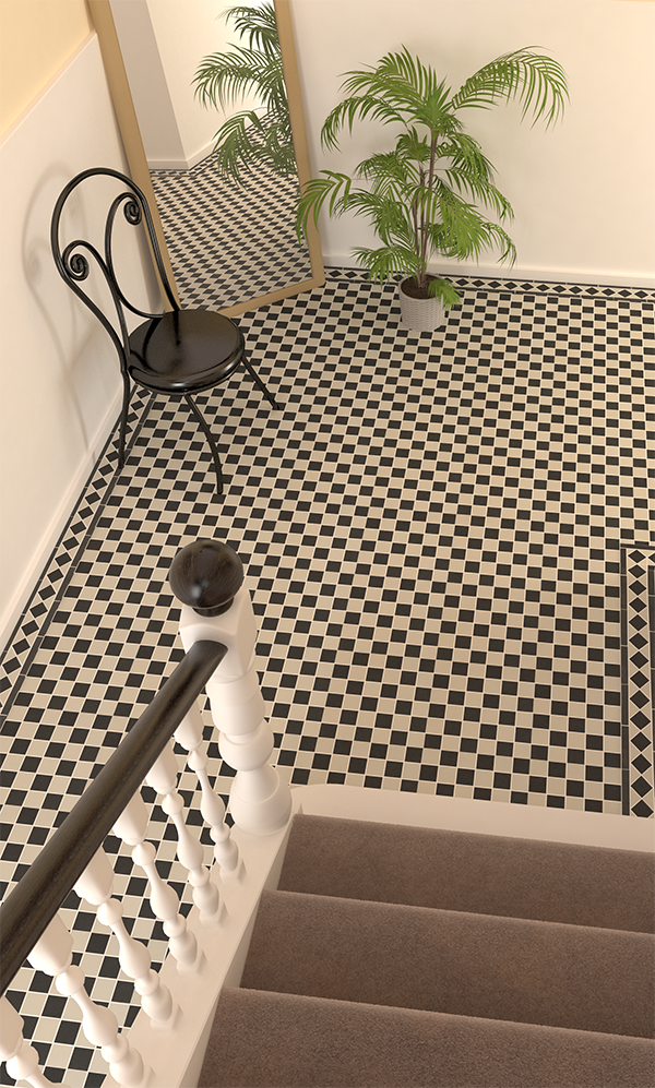 A Classic Chequerboard Look With These Black White Victorian Floor