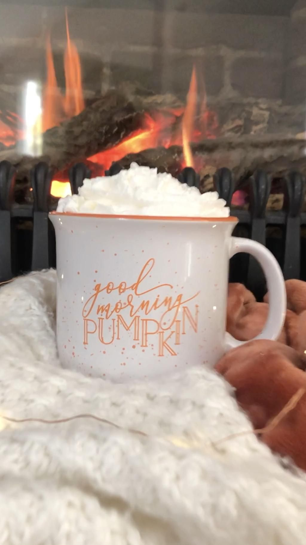 Good Morning Pumpkin Campfire Mug - White Version