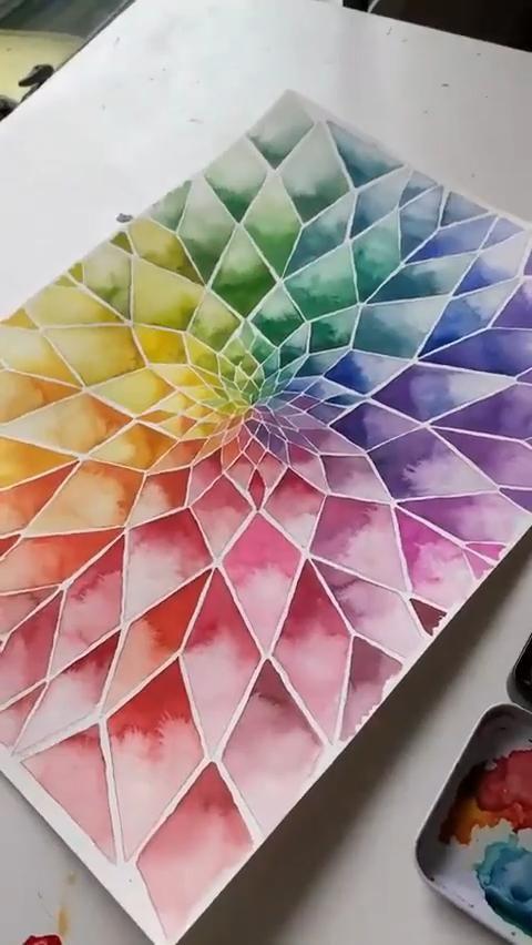 Beautiful Lotus Watercolor Painting Art