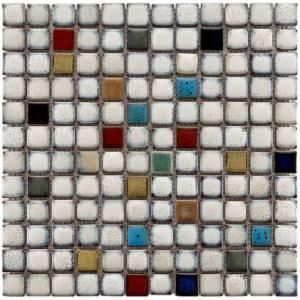 Merola Tile Essence Square Cascade 12 In X 12 In Multicolor Ceramic Mesh Mounted Mosaic Tile 1 Sq Ft Mosaic Flooring Porcelain Mosaic Tile Porcelain Mosaic