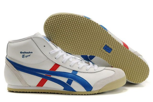 7f9999ac9625 Asics Mexico 66 High White Blue Red Couple Shoes  onitsukatiger ...