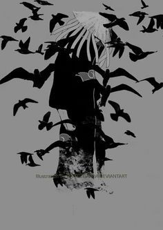 Itachi Uchiha Turning Into Crows Picture