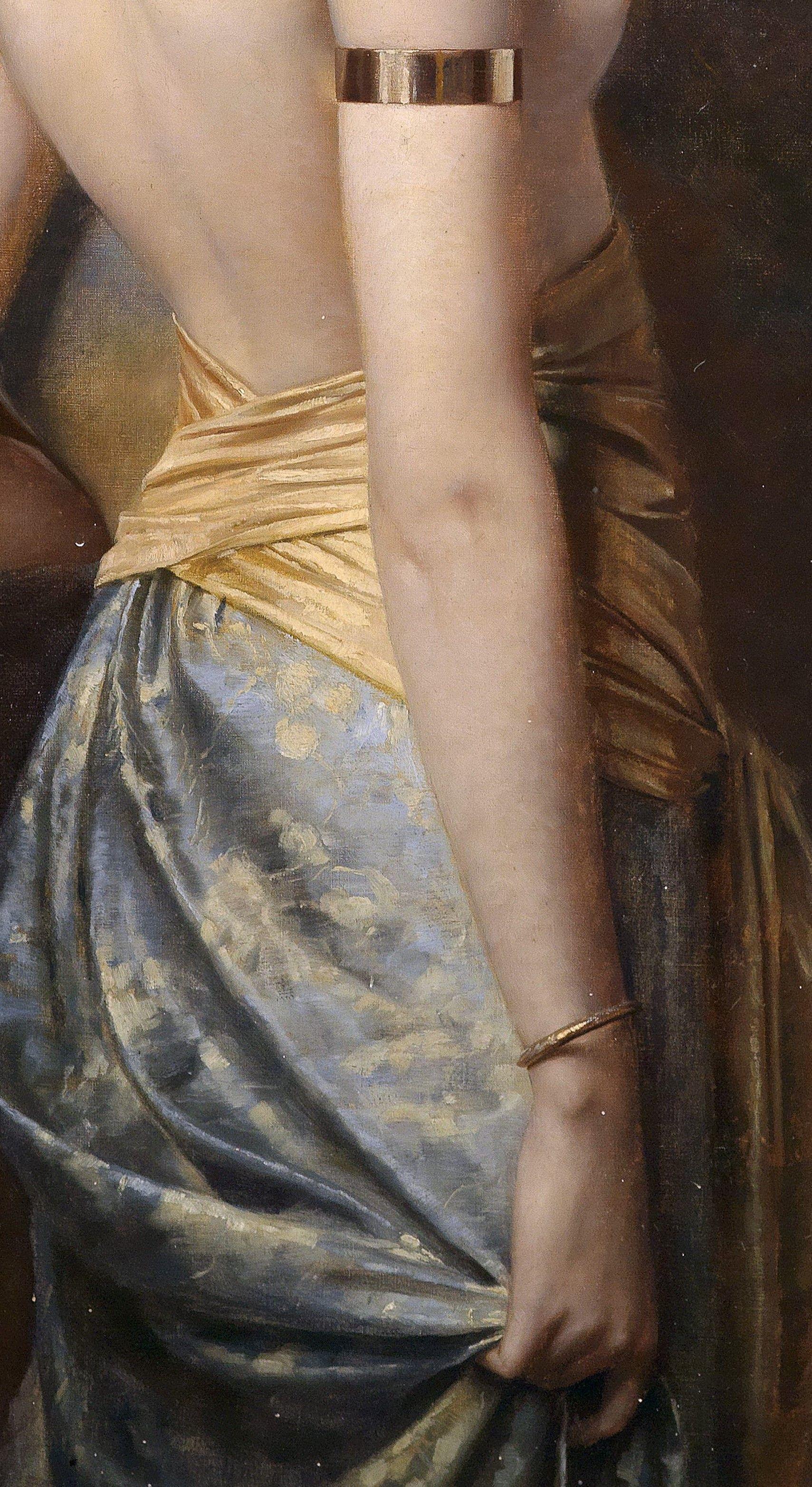 """Detalle de """"Flora"""" (1892). Max Nonnenbruch (Alemania 1857–1922).                                                                                                                                                                                 More"""