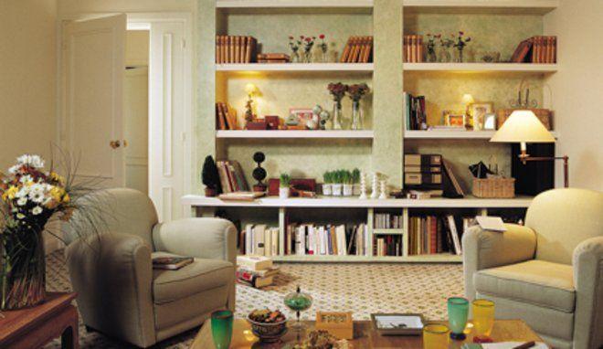 Cr er une biblioth que de salon sur mesure salon sur mesure et mesure - Construire une bibliotheque murale ...