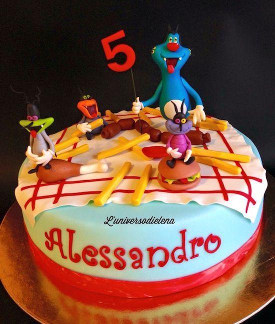 Torta Compleanno Oggy E I Maledetti Scarafaggi.Torte Oggy E I Maledetti Scarafaggi Torte Torte Di Compleanno E Torte Ragazzo
