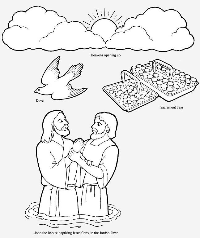 flannel board figures to make to teach The Baptism of Jesus Christ ...
