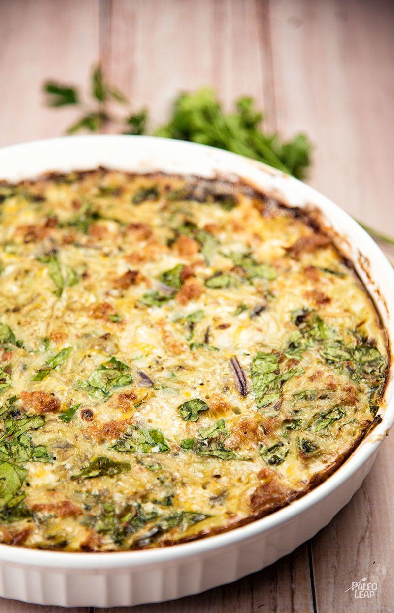 Paleo Potato And Sausage Casserole Pie Recipe