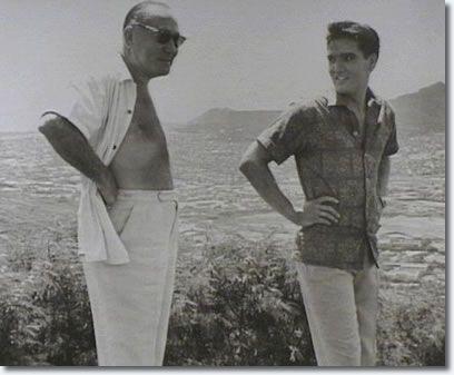 Hal Wallis and Elvis Presley during filing of- Blue Hawaii