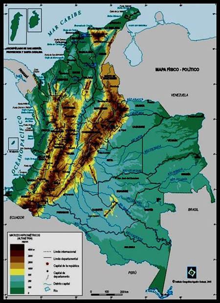 Pin De Guillermo Suache En Mapa Del Relieve Colombiano Mapa De Colombia Colombia Mapa En Relieve
