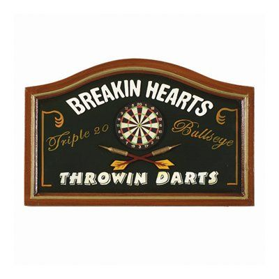 Ram Game Room R276 Breaking Hearts Throwing Darts Sign Game Room Decor Living Room