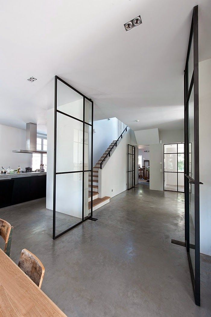 Stalen deur richting woonkamer - Interior | Pinterest - Deuren ...