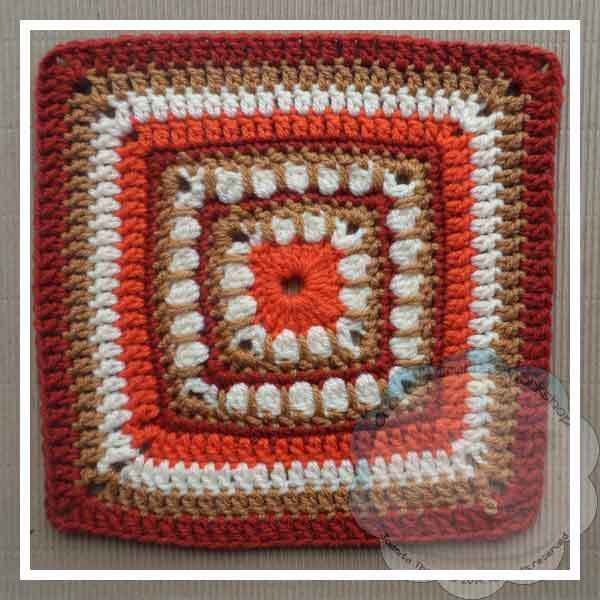 Bold Cluster Square– #CAB 019 | Crochet square patterns, Crochet ...