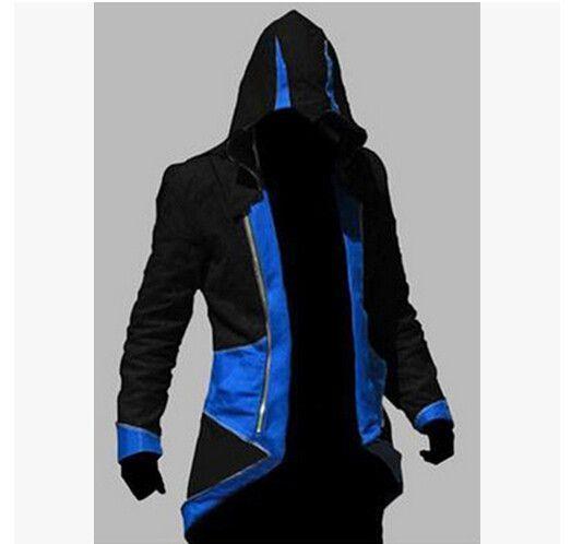 Assassins Creed 3 III Conner Kenway Men Hoodie Jacket Anime Cosplay Assassin's…