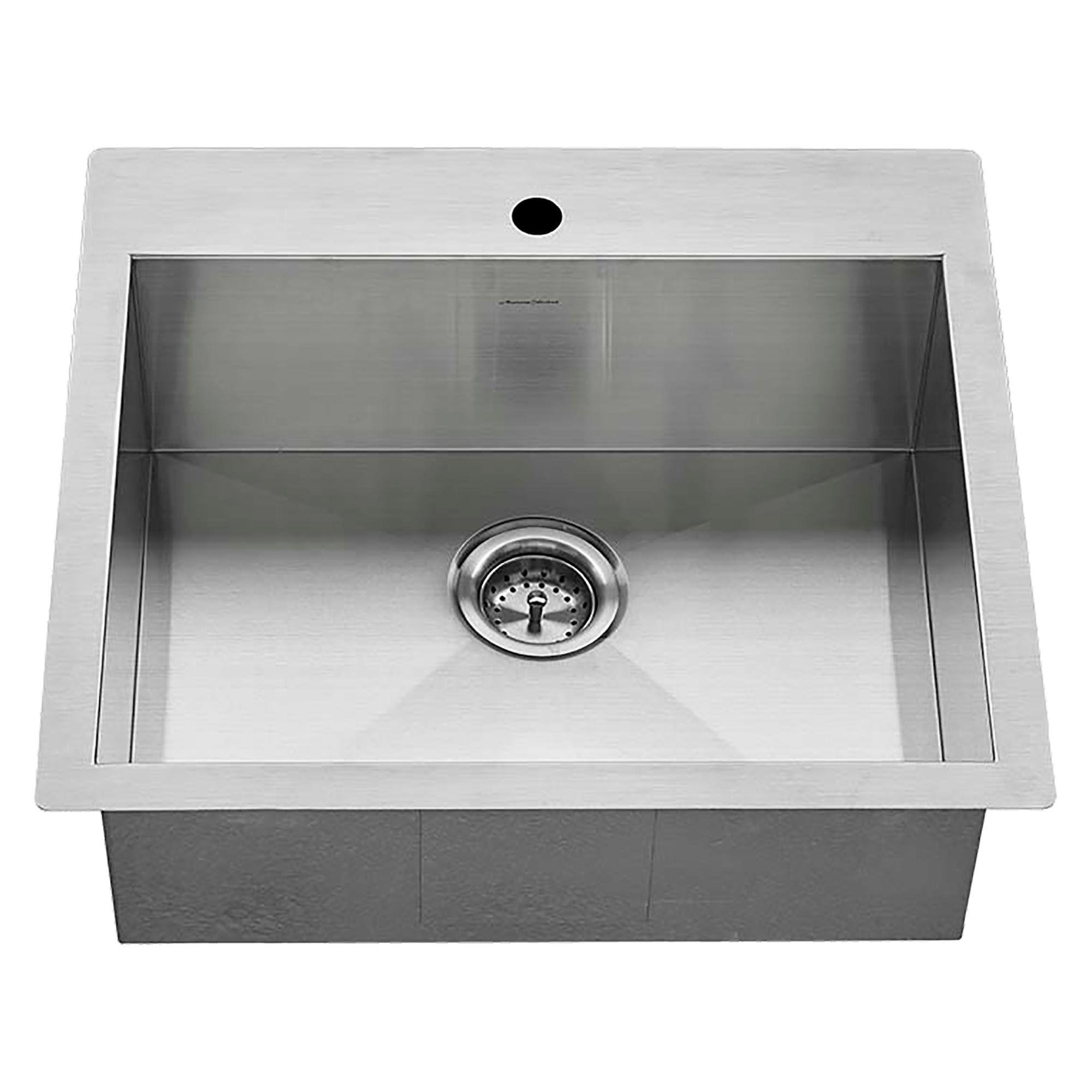 American Standard Edgewater 25x22 Stainless Steel Kitchen Sink Grey Sink Steel Kitchen Sink Drop In Kitchen Sink