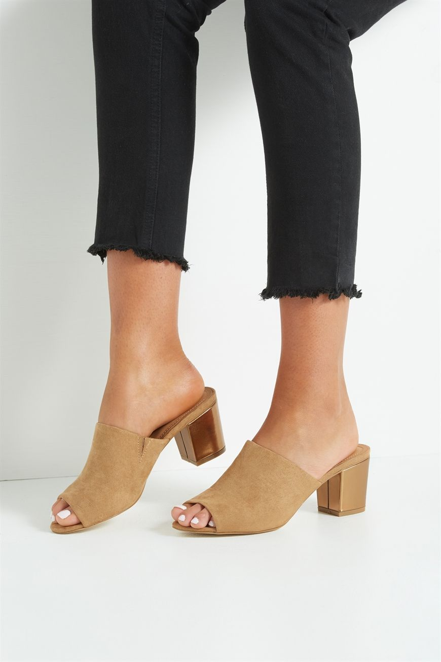 e9e2c2a3b8 ELWOOD MULE HEEL Elwood mule heel is an open toe mule and is the perfect  everyday
