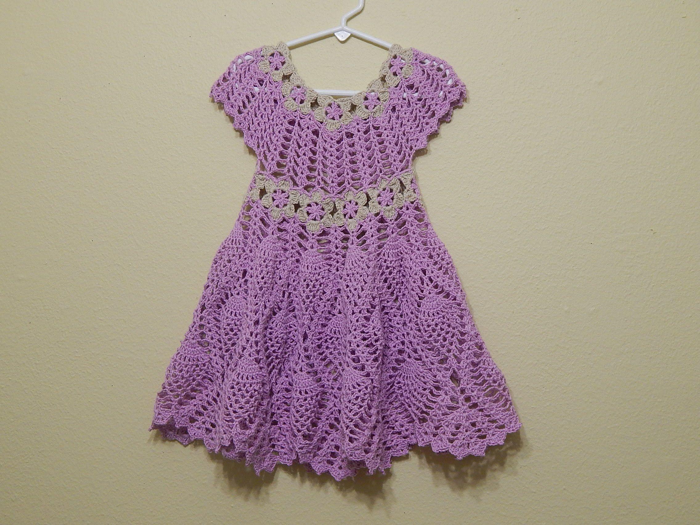 Vestido Para Niña De 3 A 4 Años Lo Puede Tejer En Cualquier