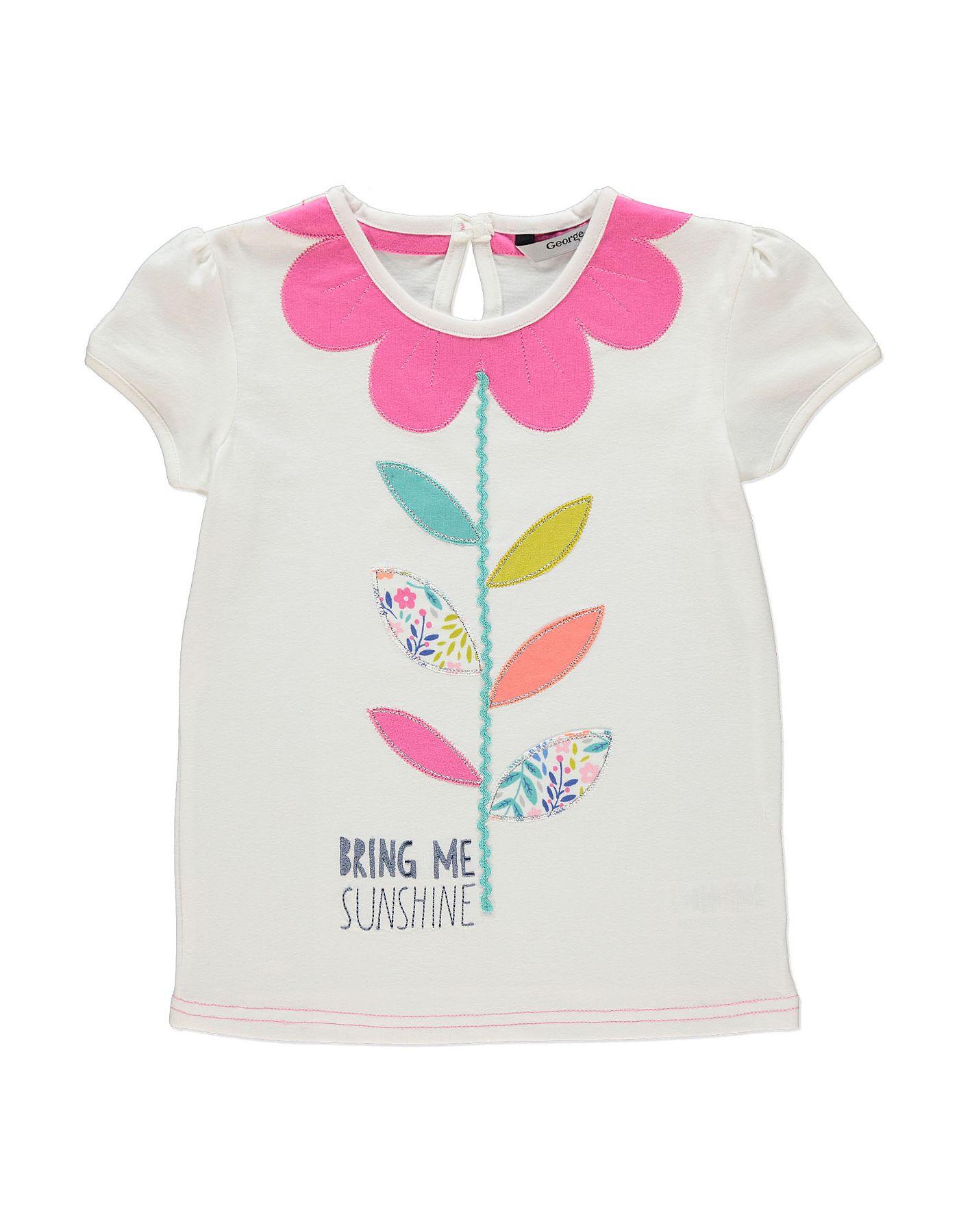 Black t shirt asda - Flower Print T Shirt