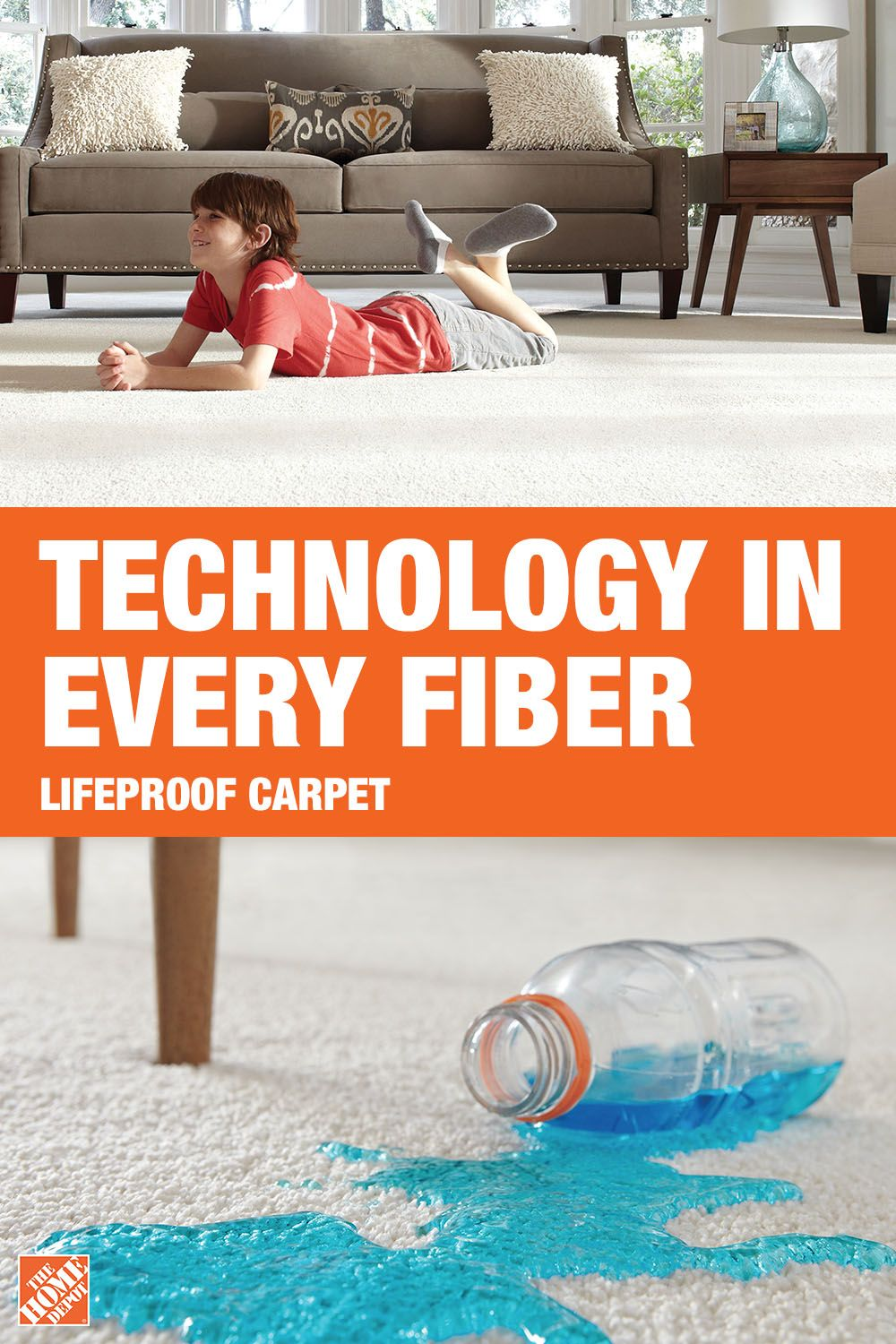 Lifeproof carpet has the stainproof and petproof
