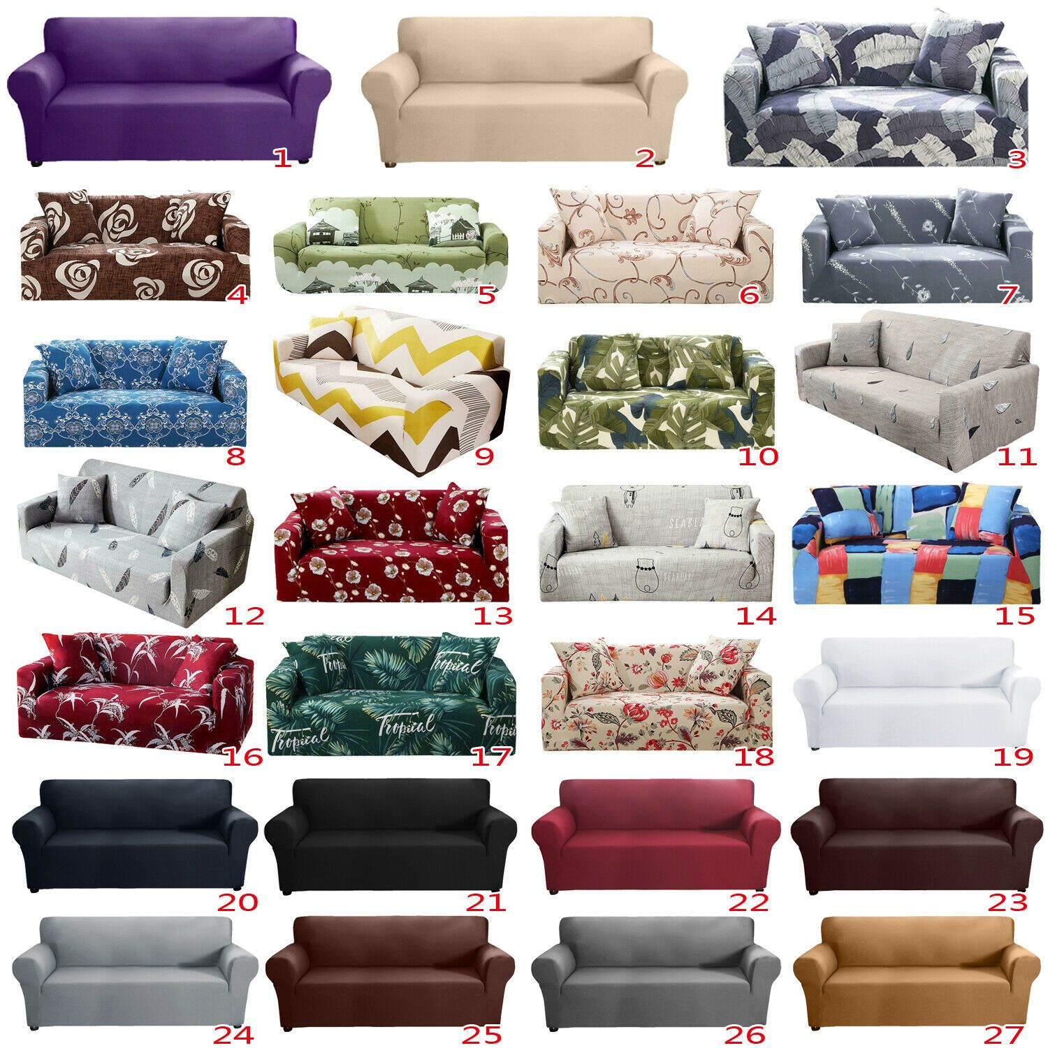 1 4 Seater Elastic Slipcover Sofa Covers Stretch Couch Cover Furniture Protector Sofa Slipcover Ideas Of Sofa