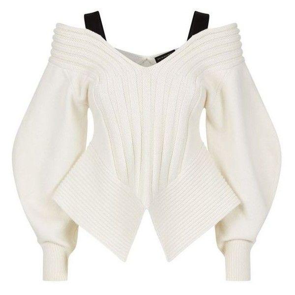 Burberry Runway Off-The-Shoulder Cashmere Sweater Harrods.com ...