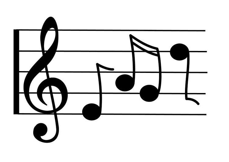 Pagina Para Colorir Notas Musicais Noten Noten Bilder Clipart