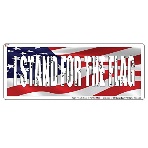 I stand for the flag full color printed bumper sticker by https