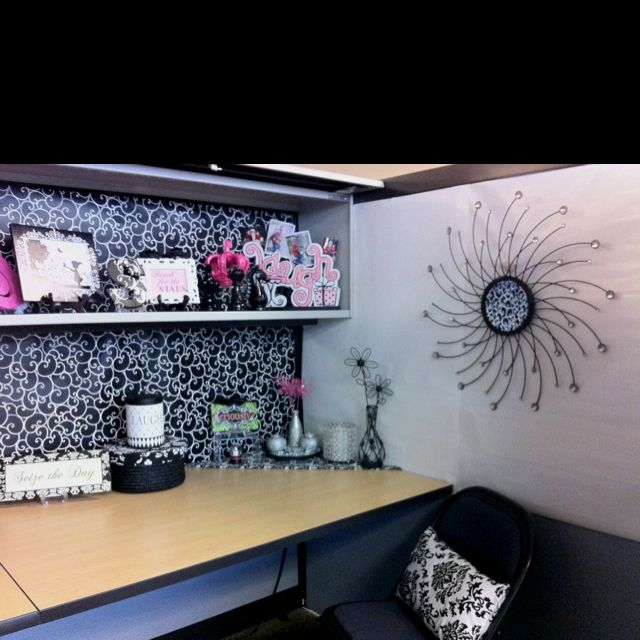 Office Desk Wallpaper: Elegant Like The Wall Art And The Laugh Font
