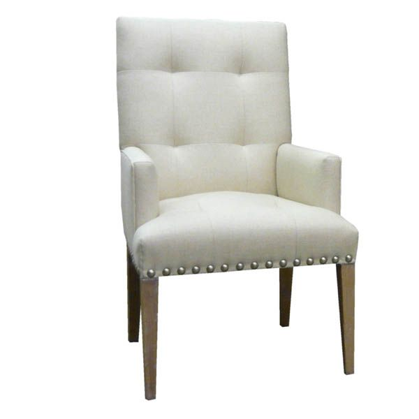 15211 Tufted Back Arm Chair Xin Ma Upholstered Arm