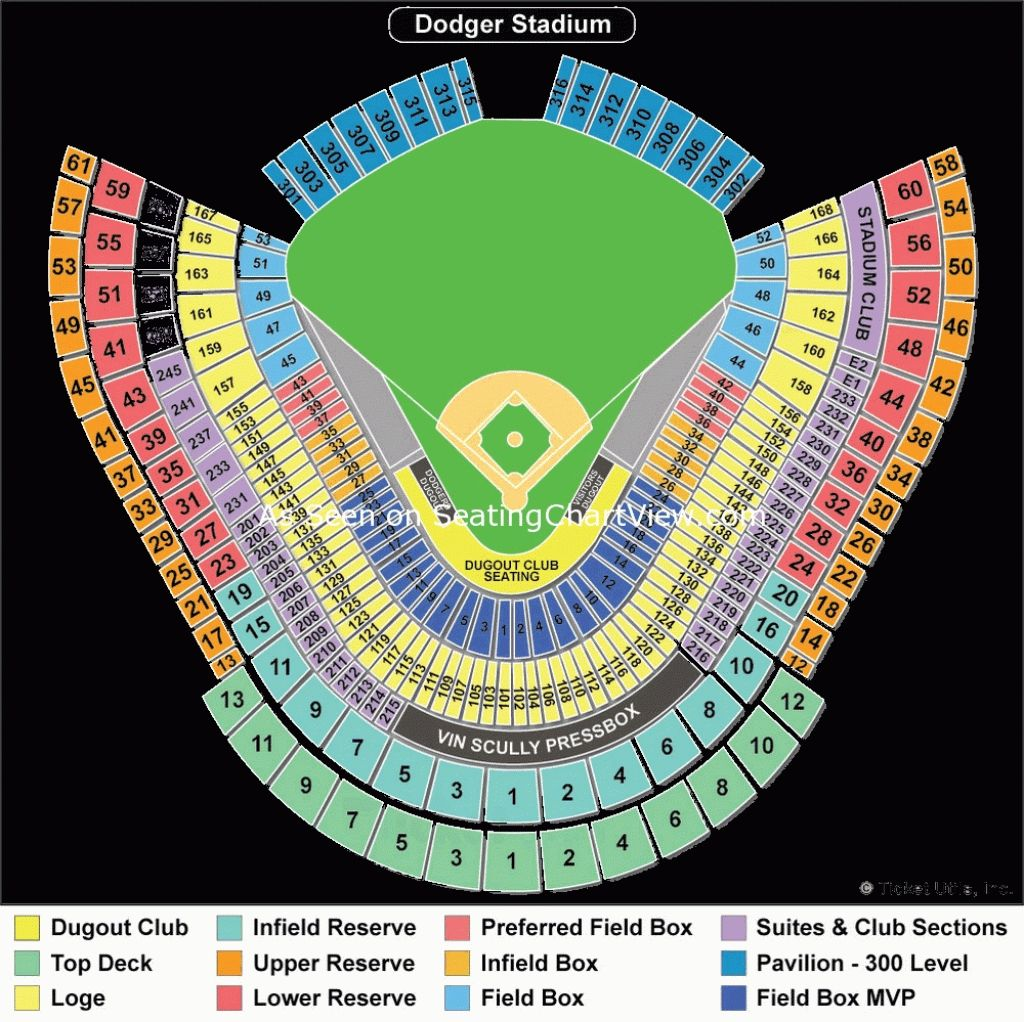 Dodger Stadium Detailed Seating Chart Dodger Tickets Dodger Stadium Dodgers Wrigley seating chart with rows