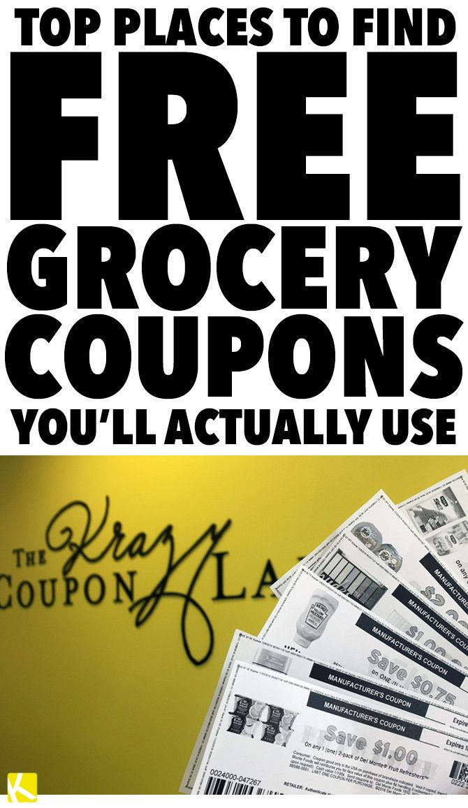 top places to find free grocery coupons you'll actually use ...