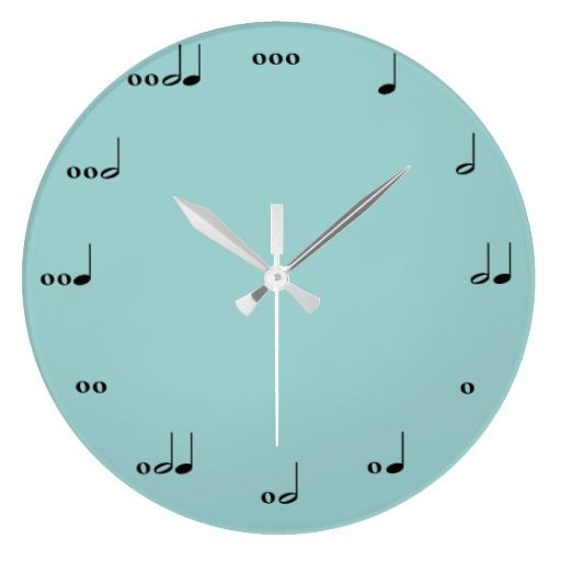 The perfect way to keep track of time. We only wonder if it sings at each hour? Buy it for $27 here or make you own with some stickers or sharpie, paint, and a clock kit!  #music #note #clock