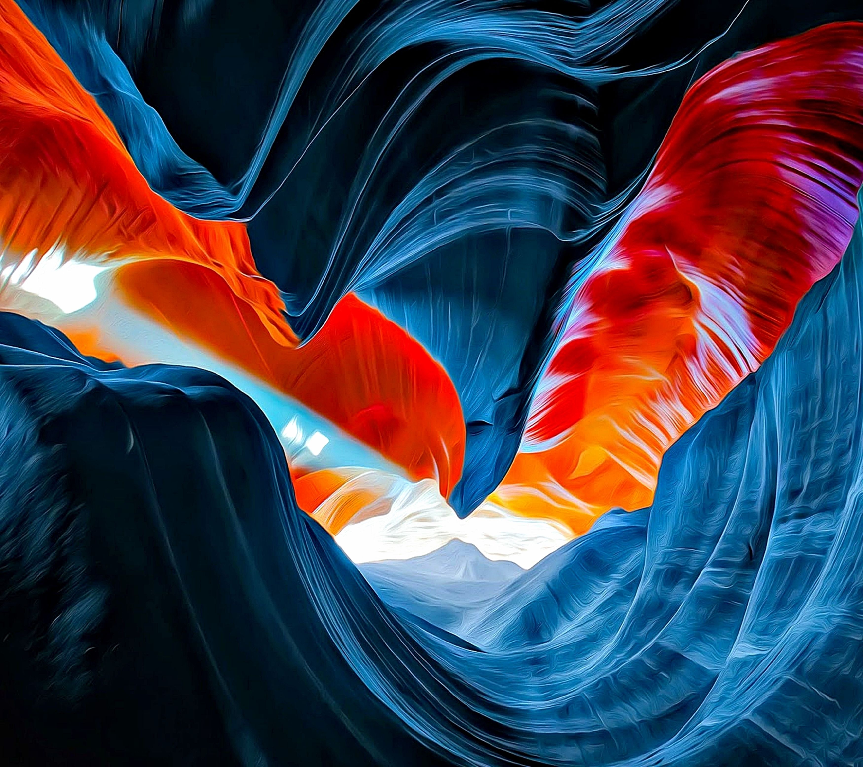 Orange Canyon Source Alex Chaves G Mkbhd Wallpapers Galaxy Wallpaper Abstract