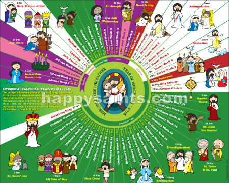2016 happy saints liturgical calendar 2016 year c printable e 2016 happy saints liturgical calendar 2016 year c printable e poster price fandeluxe Image collections