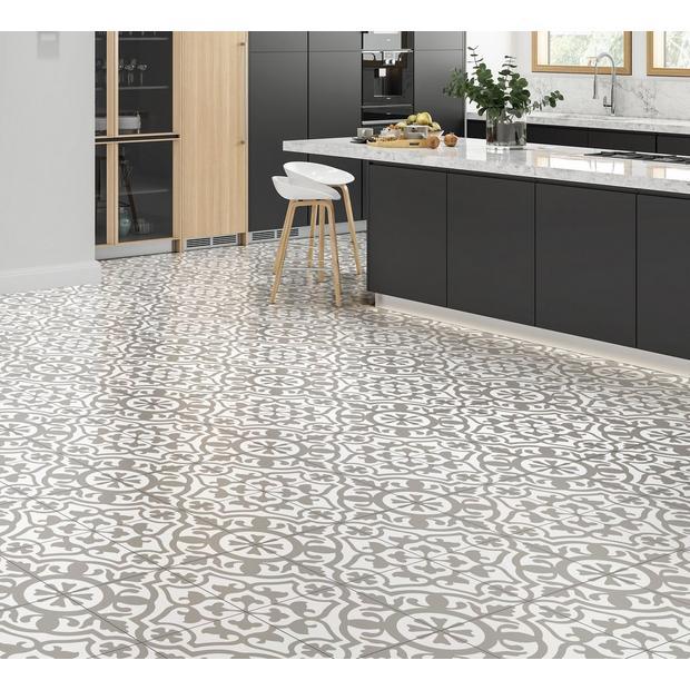 Revival Gray Matte Porcelain Tile Porcelain Tile Floor Decor Flooring