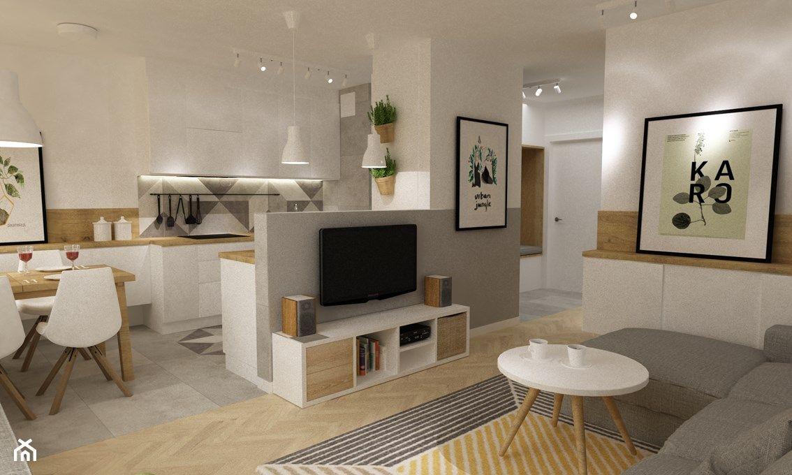 Scianka Dzialowa Niska Murek Kitchen Interior Small U Shaped Kitchens Home Decor