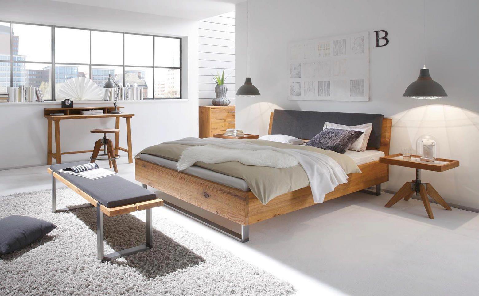 Bett 180 Cm X 200 Cm In Holz Eichefarben In 2018 Betten