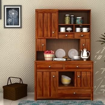 Buy Kitchen Cabinets shop #crestor #hutch #cabinet with honey finish online from wooden