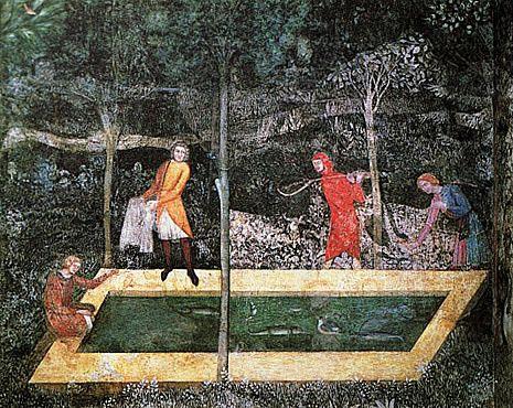 Chambre du cerf fresque palais des papes avignon art du moyen age pinterest palais des - Chambre de commerce d avignon ...