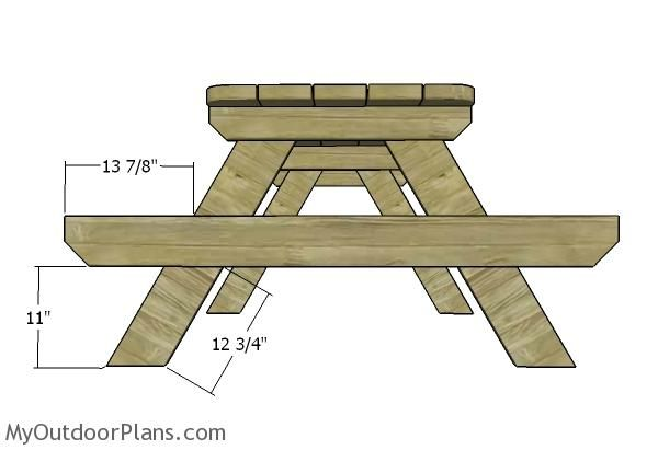 6 Foot Picnic Table Plans Myoutdoorplans Free Woodworking Plans And Projects Diy Shed Wooden P Picnic Table Plans Wooden Picnic Tables Picnic Table Bench