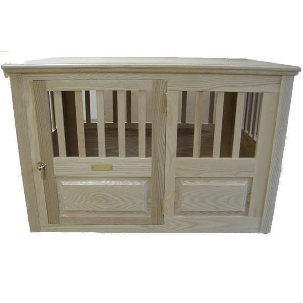 furniture style dog crate. Decorator Custom Built Solid Ash Luxury Furniture-Style Dog Crate, Left Side-Opening Furniture Style Crate