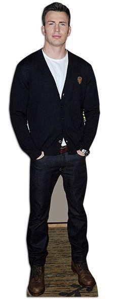 Chris Evans Lifesize Cardboard Cutout Standee Stand Up Chris Evans Cardboard Cutout Cutout